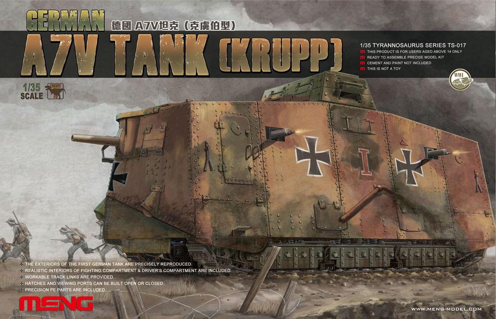 Meng 1/35 German A7V Tank(Krupp)