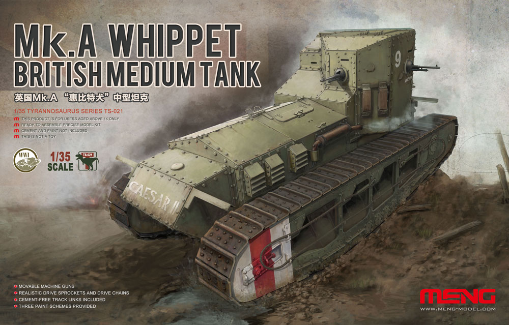 Meng 1/35 BRITISH MEDIUM TANK Mk.A WHIPPET