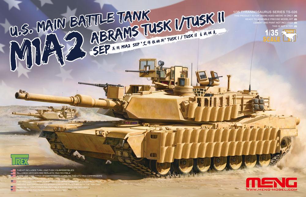 Meng 1/35 U.S. Main Battle Tank M1A2 SEP Abrams TUSK I/TUSK II