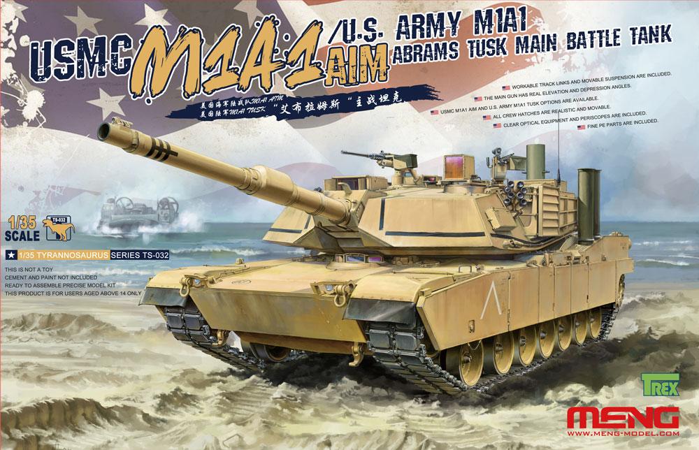 Meng 1/35 USMC M1A1 AIM/U.S. Army M1A1 Abrams TUSK Main Battle Tank