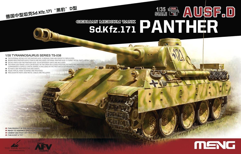 Meng 1/35 German Medium Tank Sd.Kfz.171 Panther Ausf.D