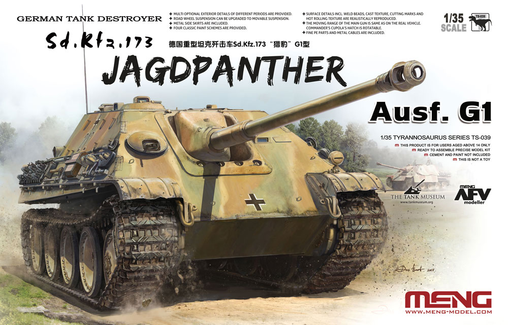 Meng 1/35 German Tank Destroyer Sd.Kfz.173 Jagdpanther G1