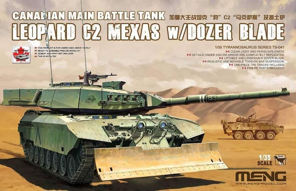 Meng 1/35 Canadian Main Battle Tank Leopard C2 MEXAS w/Dozer Blade