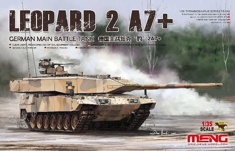 Meng 1/35 GERMAN MAIN BATTLE TANK LEOPARD 2A7+