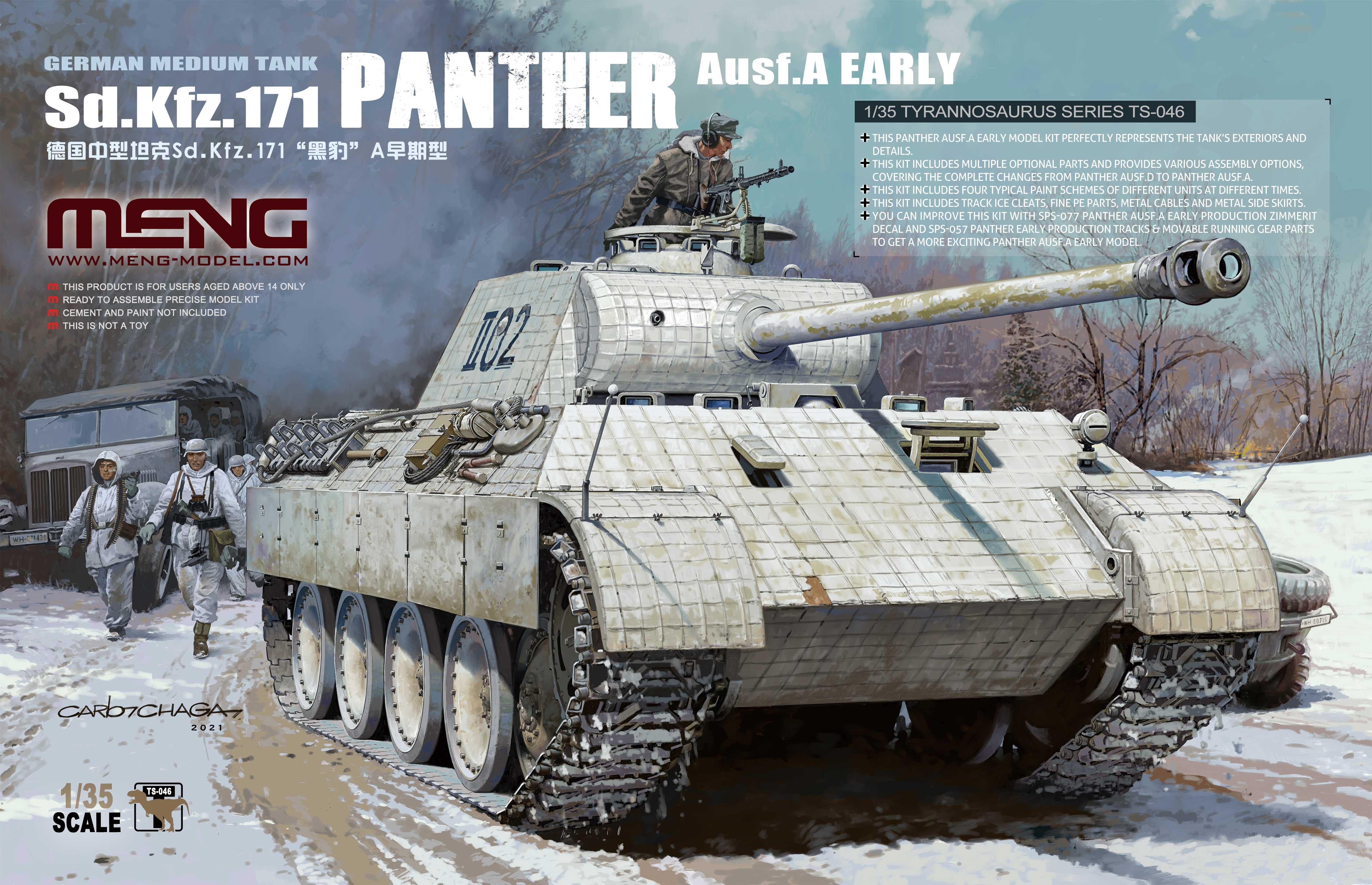 Meng 1/35 Sd.Kfz.171 Panther Ausf.A Early, German Medium Tank