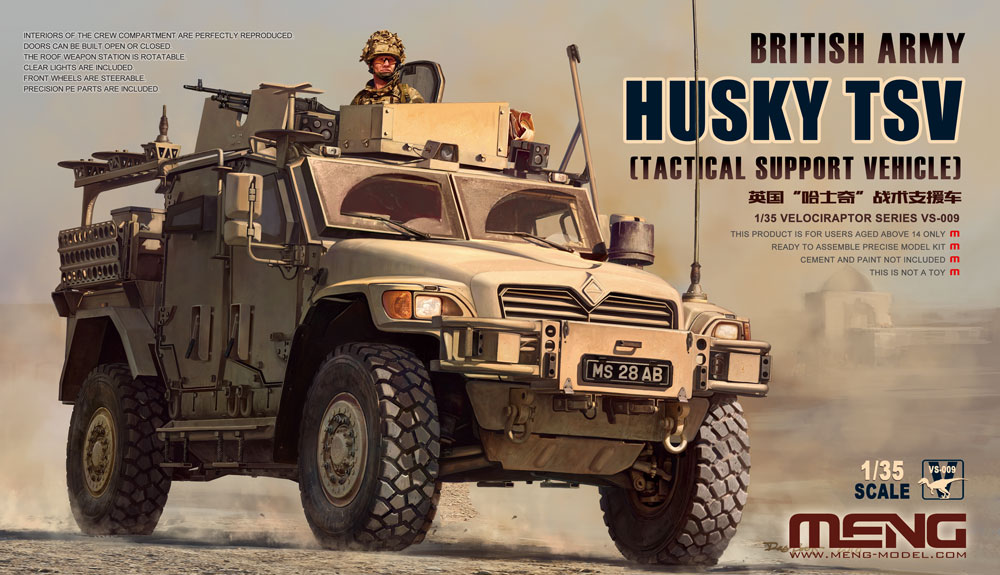 Meng 1/35 British Army Husky TSV (Tactical Support Vehicle)