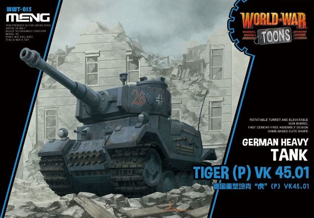 Meng GERMAN HEAVY TANK TIGER(P) VK45.01