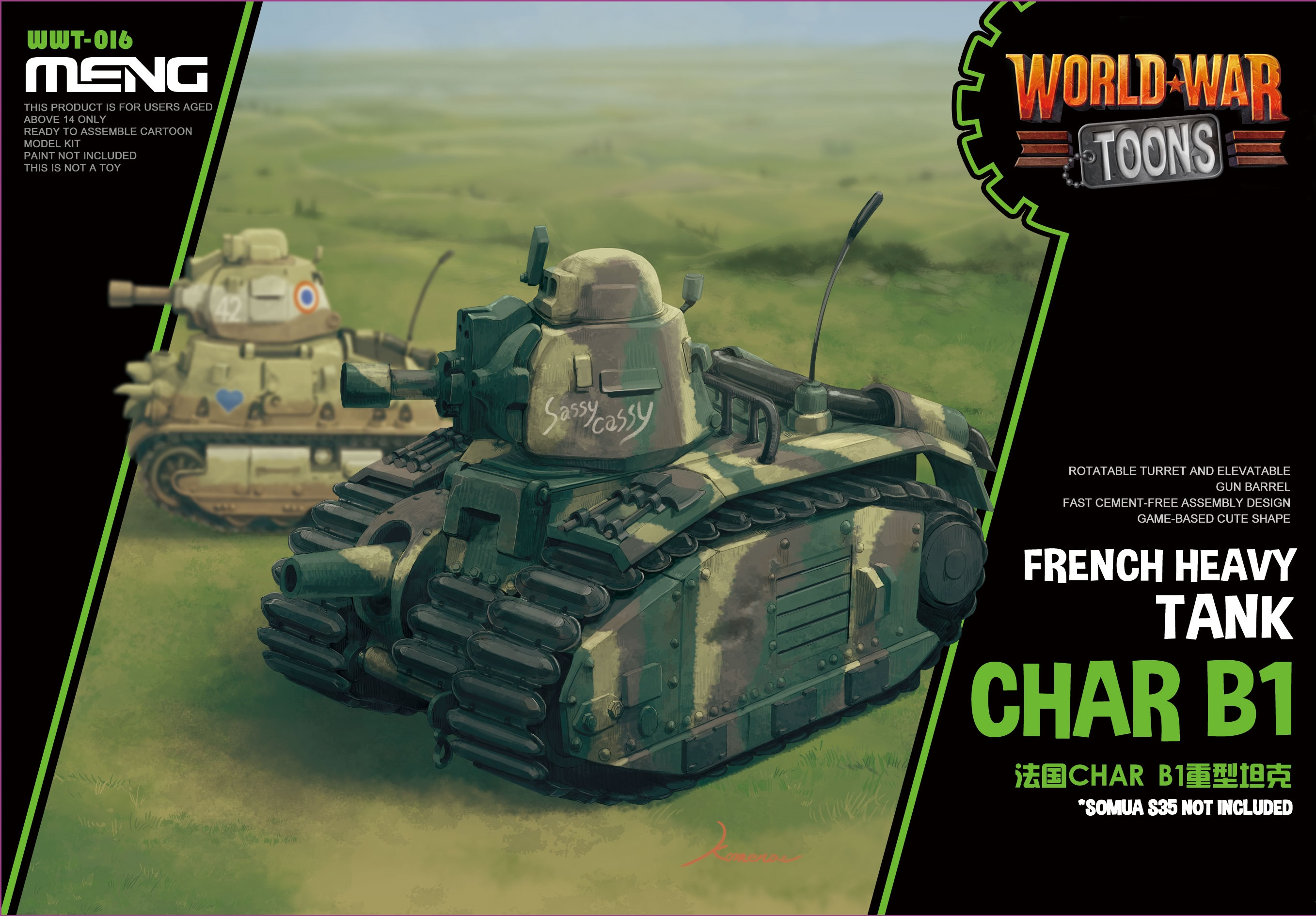 Meng French Heavy Tank Char B1 (Cartoon Model)