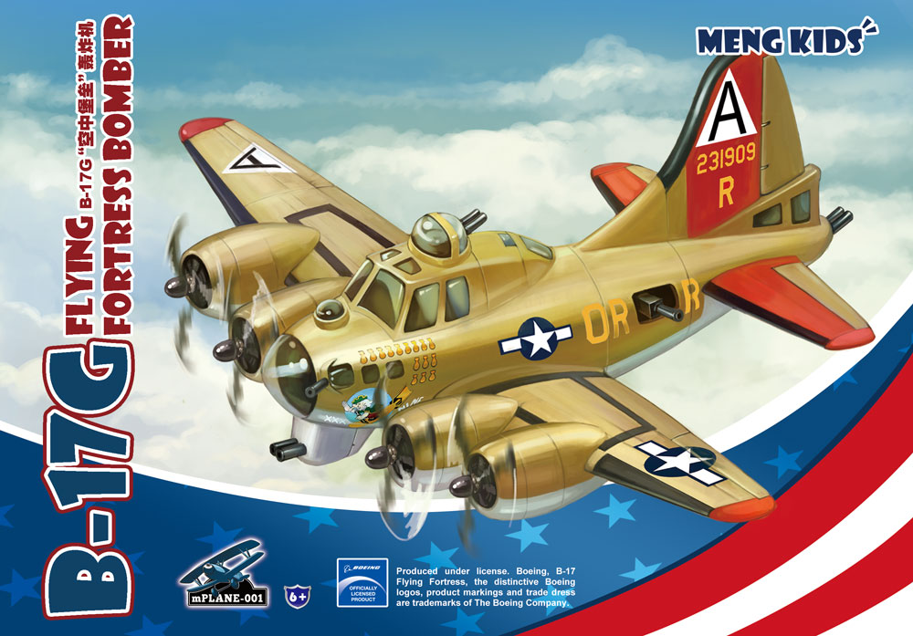 Meng B-17G Flying Fortress Bomber, Cartoon Model