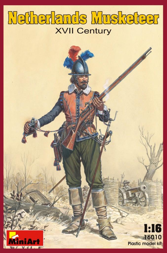 MiniArt Netherlands Musketeer. XVII c. (1/16)