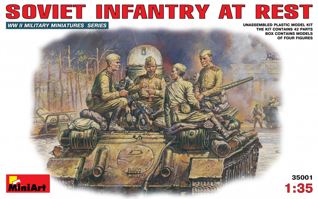 MiniArt Soviet Infantry at Rest. (1/35)