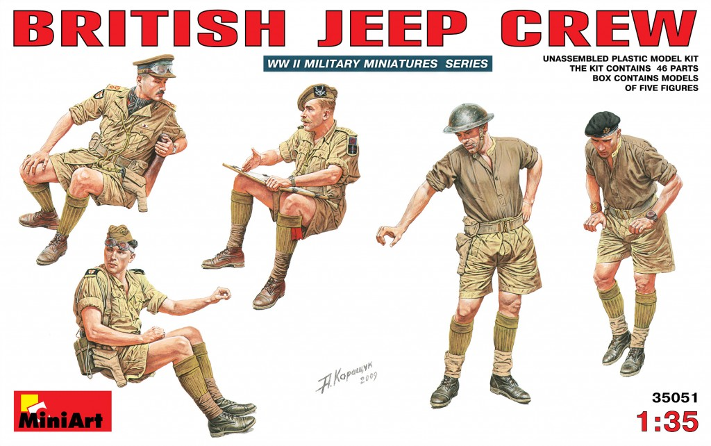 MiniArt British Jeep Crew. (1/35)