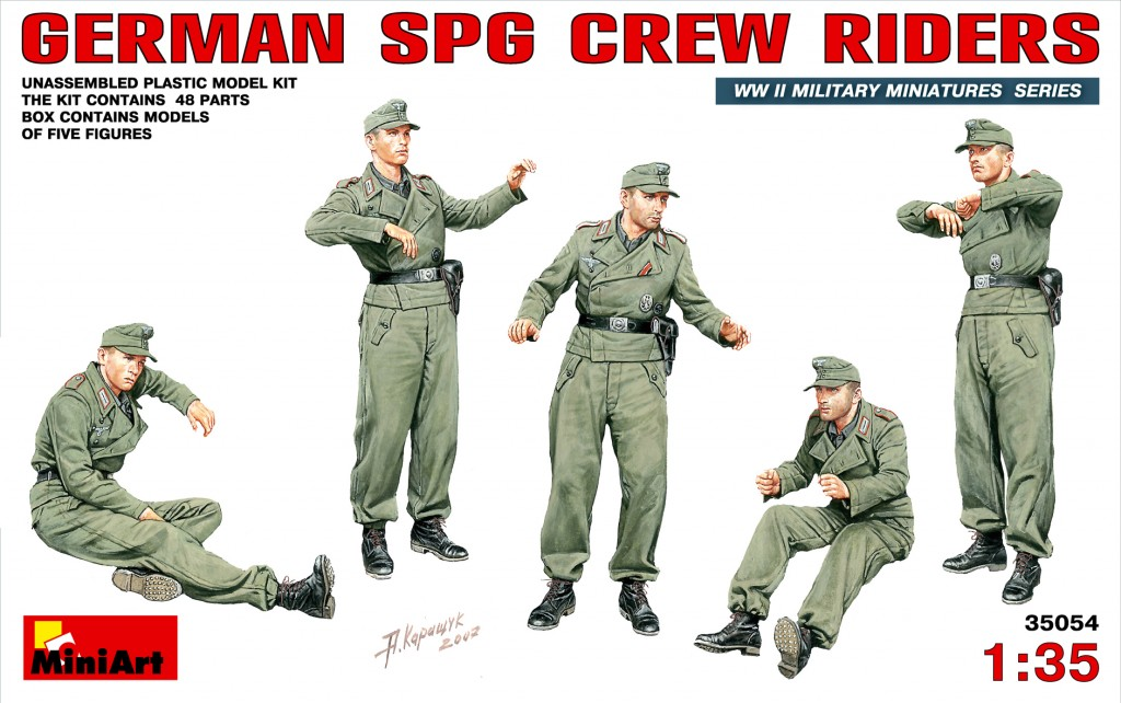 MiniArt German SPG Crew Riders (1/35)