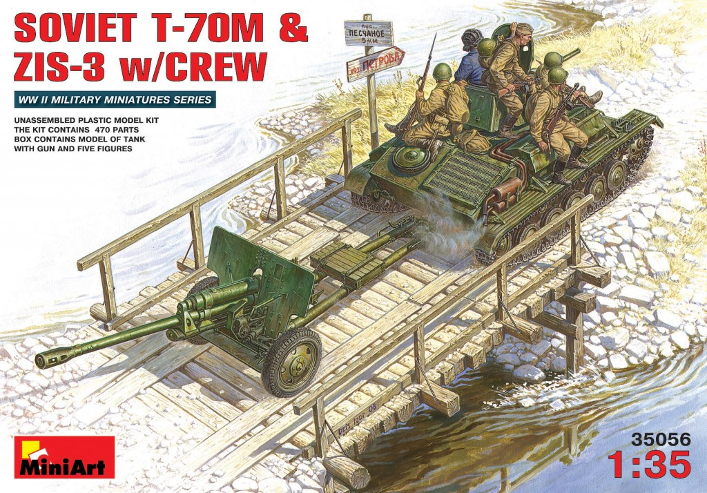 MiniArt Soviet T-70 M & ZiS -3 w/ Crew (1/35)