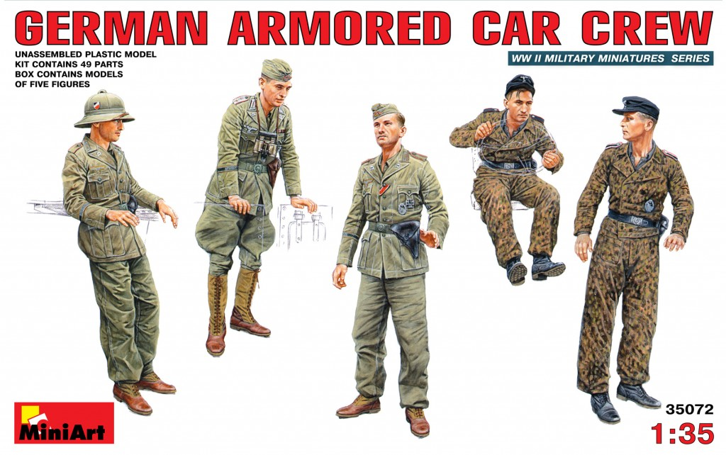 MiniArt German Armoured Car Crew (1/35)