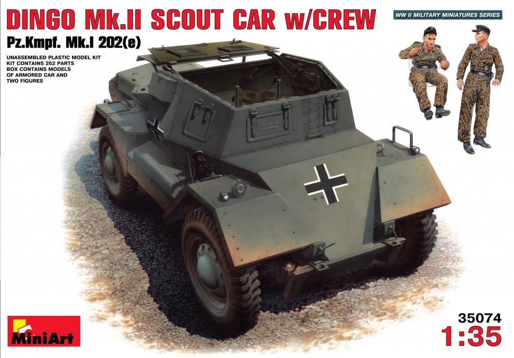MiniArt Dingo Mk II Scout Car w/Crew Pz.Kpfw. Mk.1 202(e) (1/35)