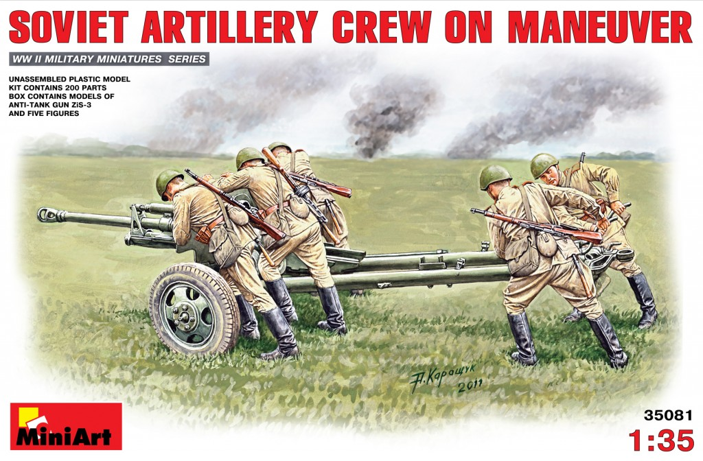 MiniArt Soviet Artillery Crew on Maneuver (1/35)