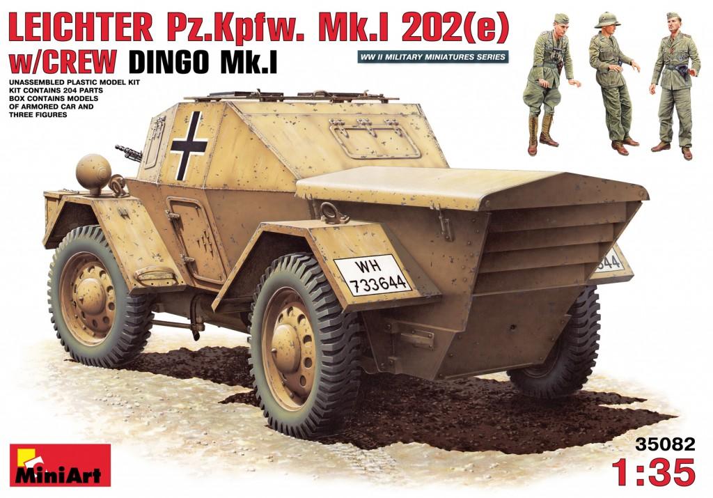MiniArt Leichter Pz.Kpfw. Mk.1 202 (e). w/Crew Dingo Mk.1 (1/35)