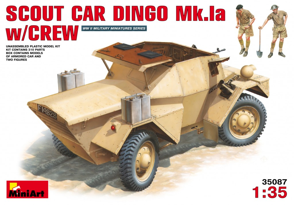MiniArt Scout Car Dingo Mk 1a w/crew (1/35)