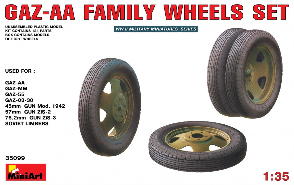 MiniArt GAZ-AA Family Wheels set (1/35)