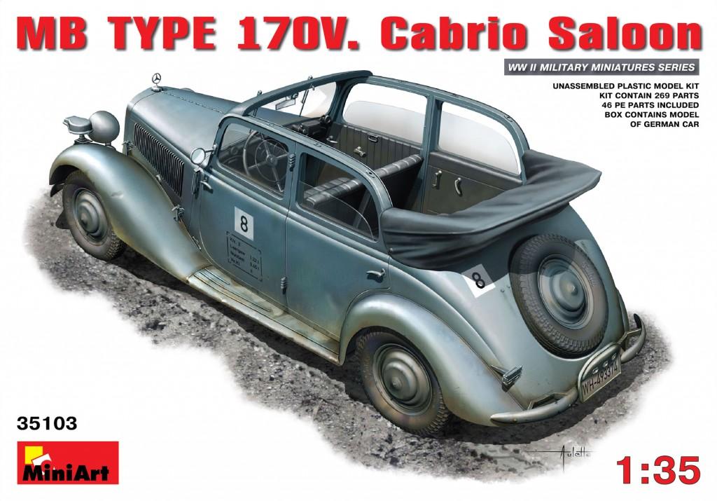 MiniArt MB Typ 170V. Cabrio Saloon (1/35)