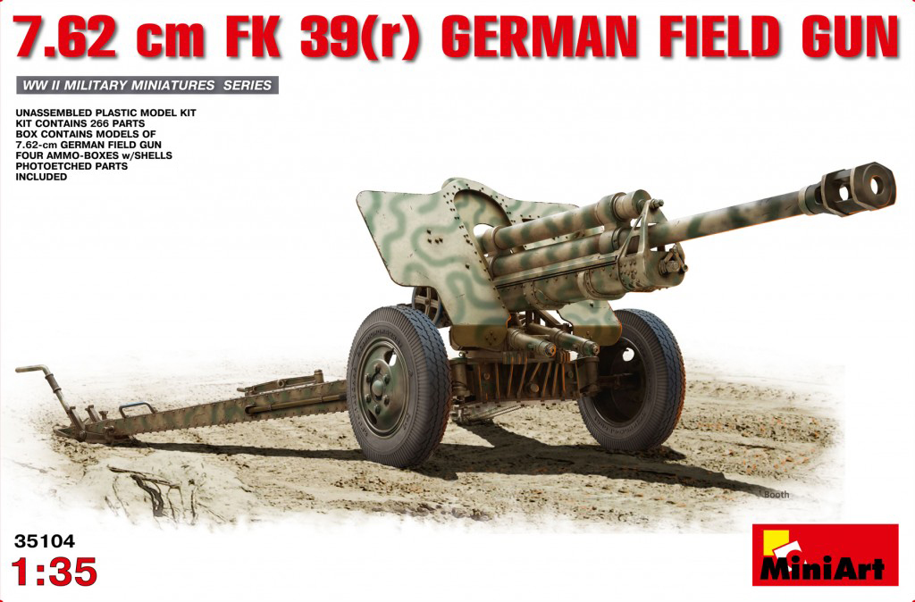 MiniArt 7.62 cm FK 39(r) German Field Gun (1/35)