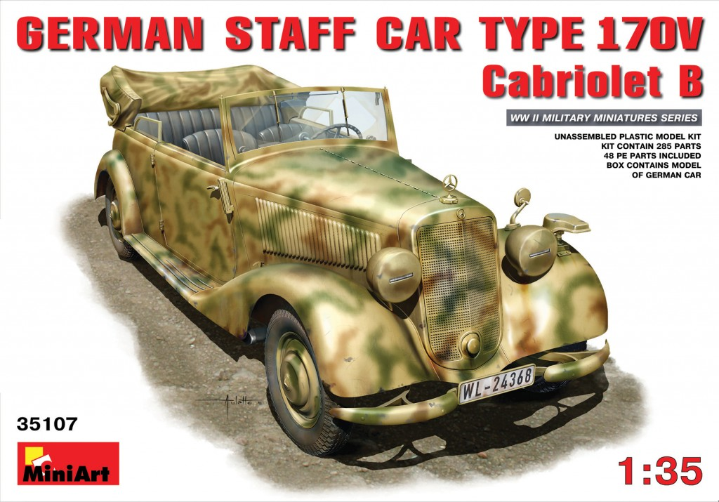 MiniArt German Staff Car Typ 170V. Cabriolet B (1/35)