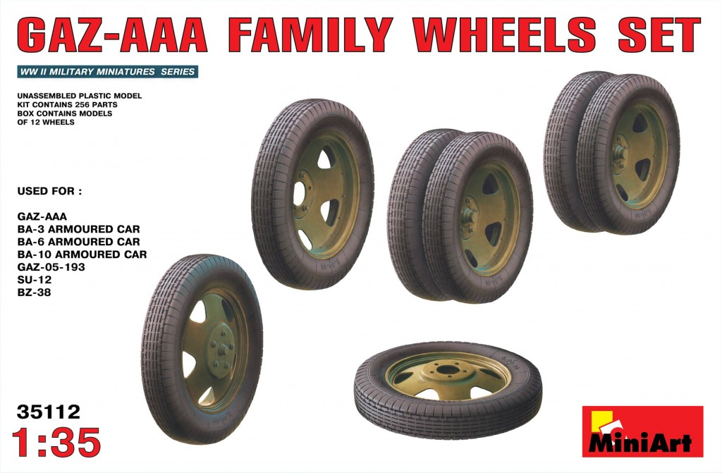 MiniArt GAZ-AAA Family Wheels set (1/35)