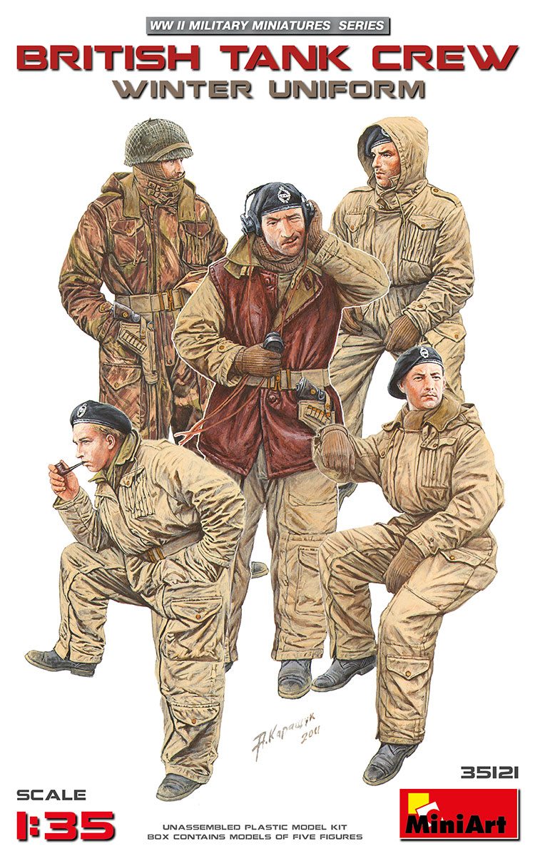 MiniArt British Tank Crew (Winter Uniform) (1/35)