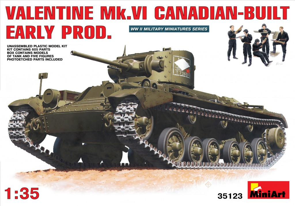 MiniArt Valentine Mk 6. Canadian-built Early Prod. (1/35)