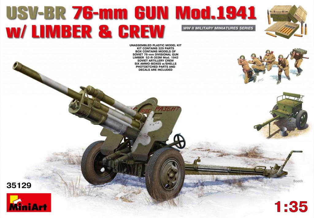 MiniArt USV-BR 76-mm Gun Mod.1941 w/Limber & Crew (1/35)