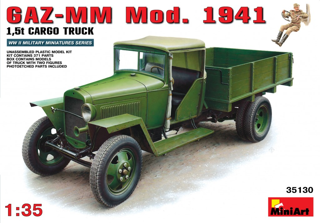 MiniArt GAZ-MM. Mod. 1941. Cargo Truck (1/35)