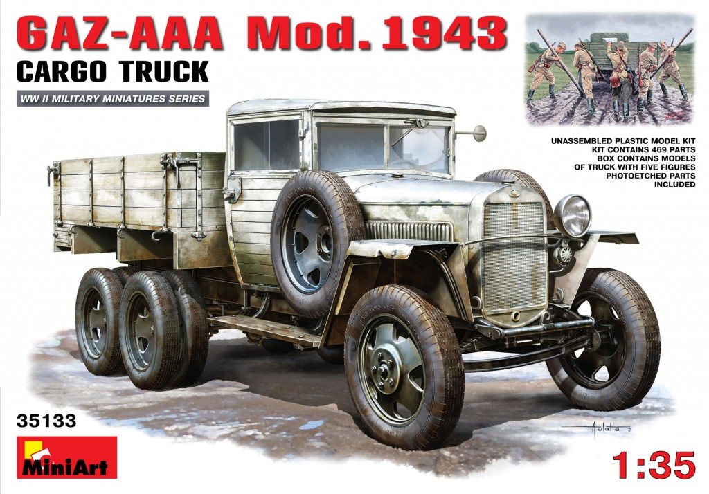 MiniArt GAZ-AAA. Mod. 1943. Cargo Truck (1/35)