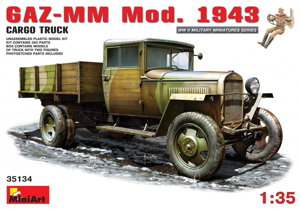 MiniArt GAZ-MM. Mod. 1943. Cargo Truck (1/35)