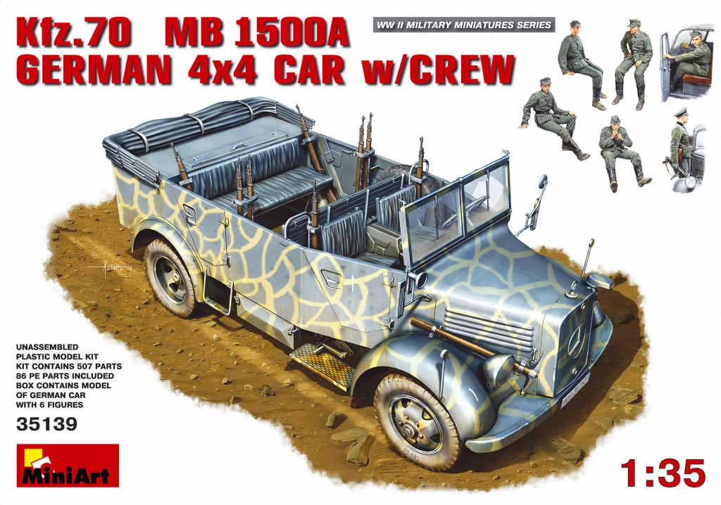 MiniArt Kfz.70 (MB 1500A) German 4x4 Car w/Crew (1/35)