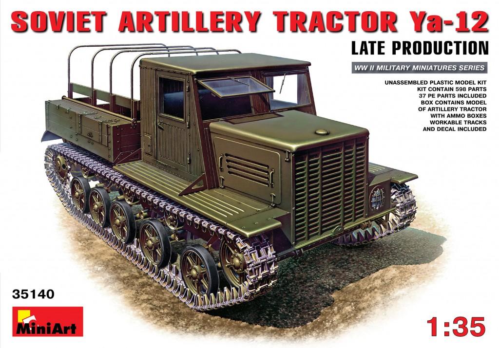 MiniArt Ya-12 Late Prod. Soviet Artillery Tractor (1/35)