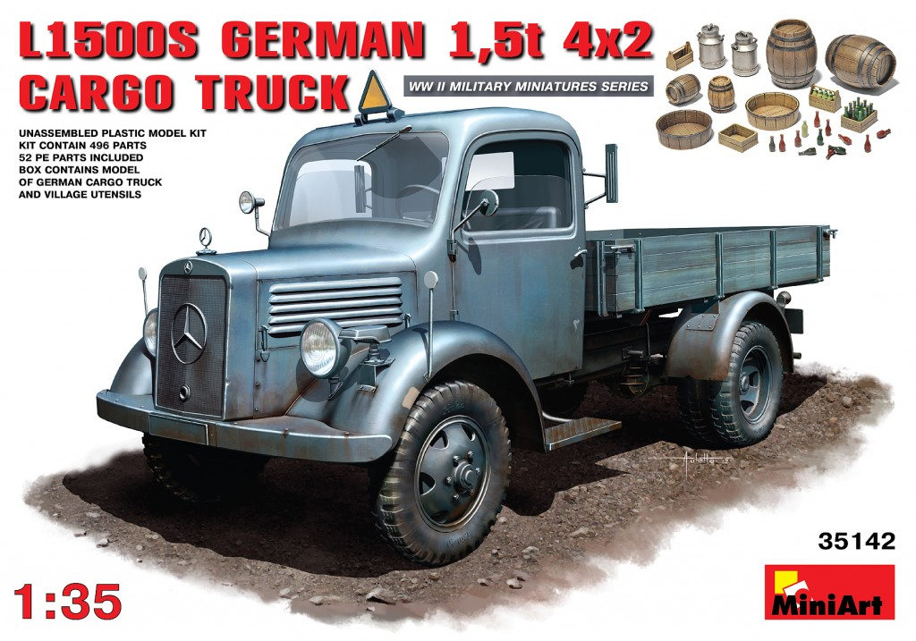 MiniArt L1500S. German 1,5t 4?2 Cargo Truck (1/35)