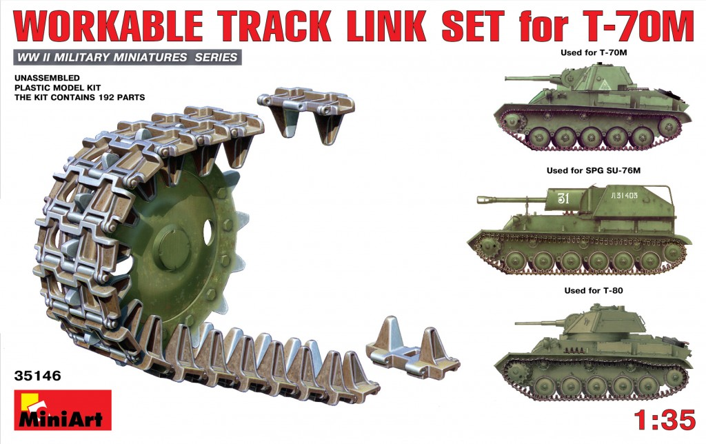 MiniArt Workable Track Link Set for T-70M Light Tank (1/35)