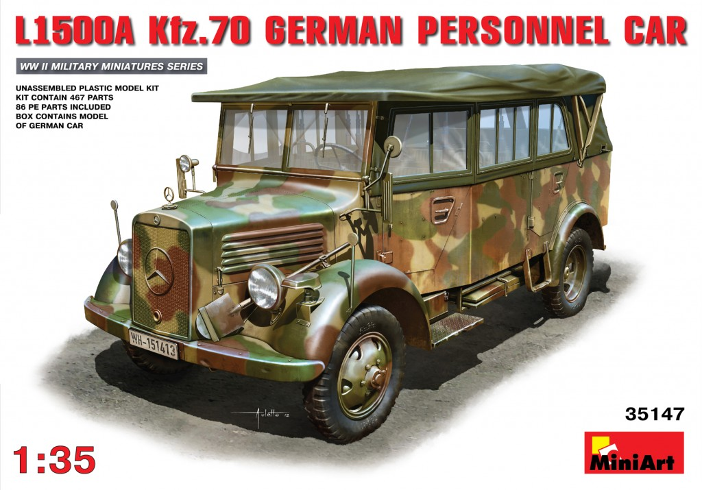 MiniArt L1500A (Kfz.70) German Personnel Car (1/35)