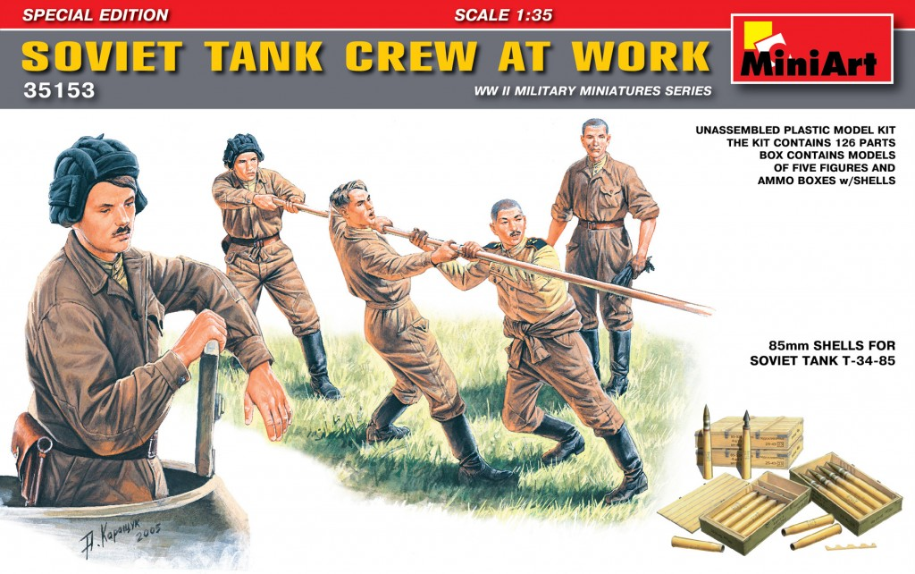 MiniArt Soviet Tank Crew at Work. Special Edition (1/35)