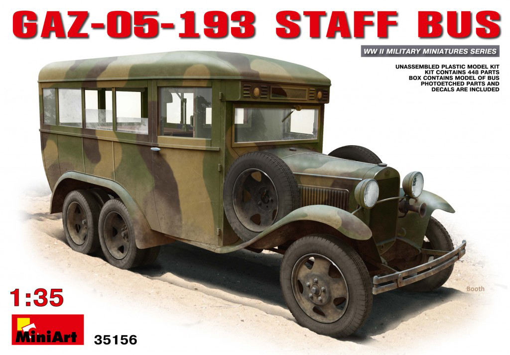 MiniArt GAZ-05-193 Staff Bus (1/35)