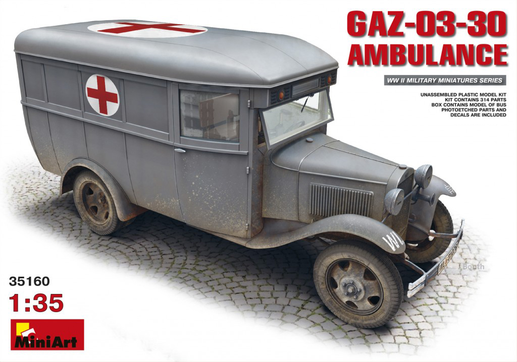 MiniArt GAZ-03-30 Ambulance (1/35)