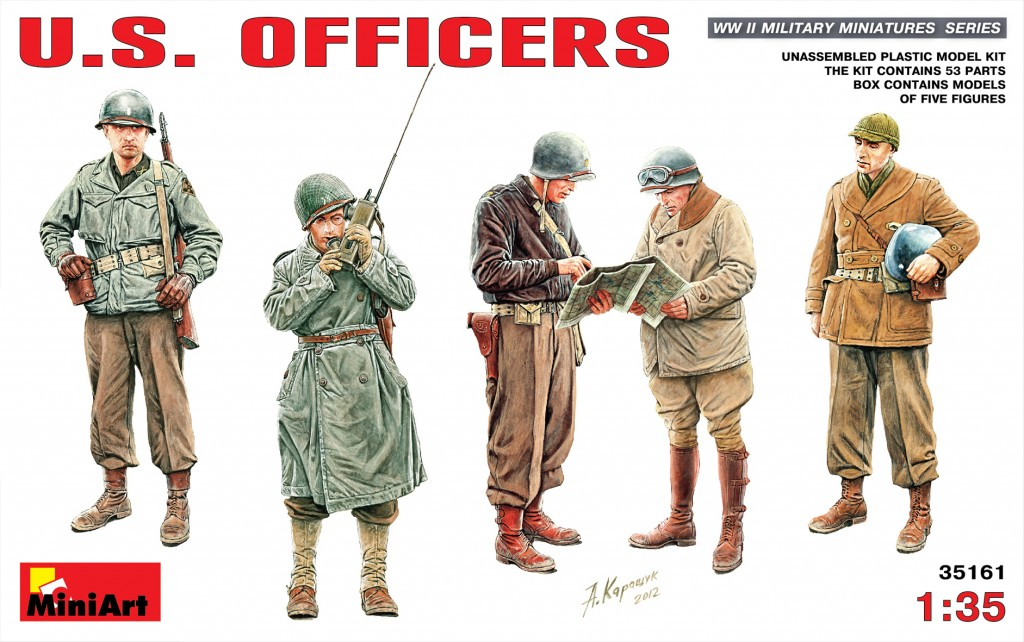 MiniArt U.S.Officers (1/35)