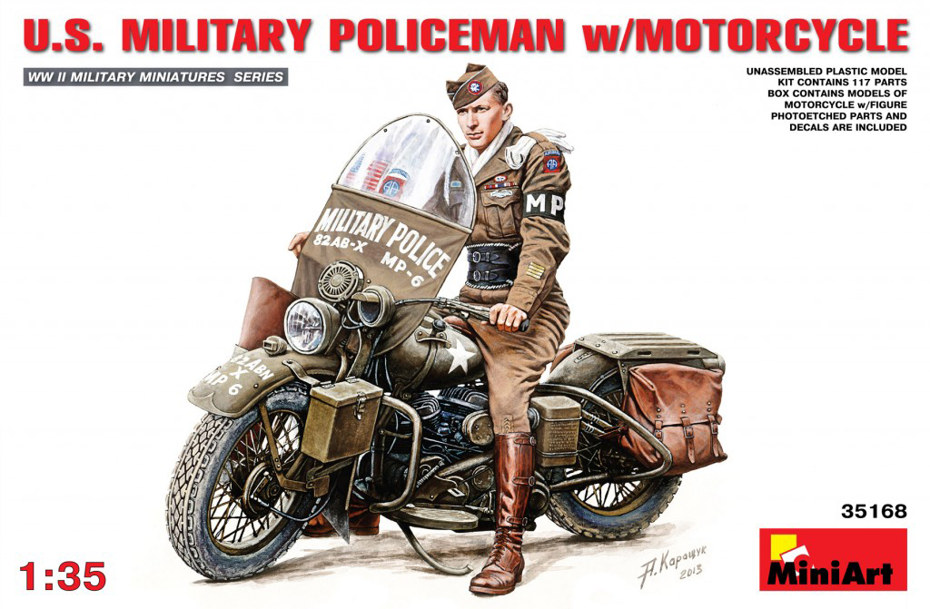 MiniArt U.S.Millitary Policeman with Motorcycle (1/35)