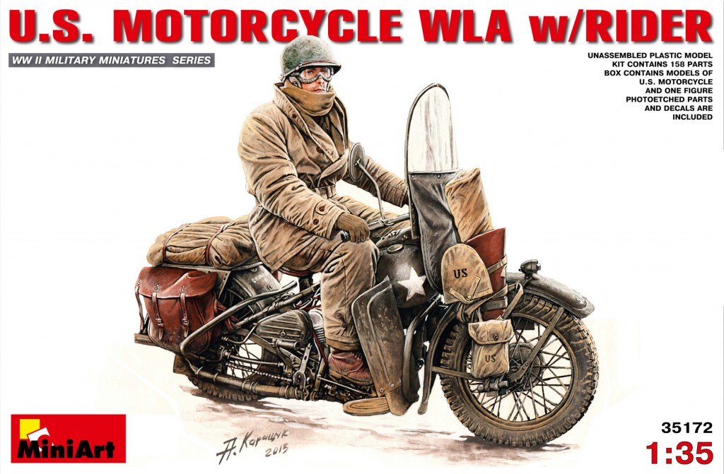 MiniArt U.S.Motorcycle WLA with Rider (1/35)