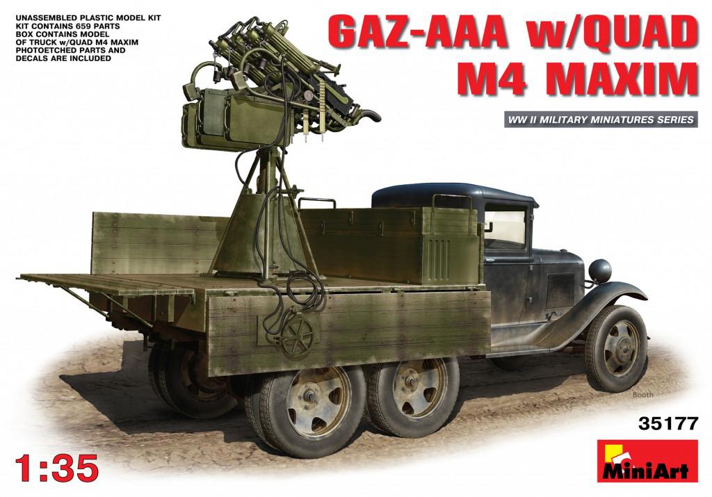 MiniArt GAZ-AAA w/Quad M-4 Maxim (1/35)