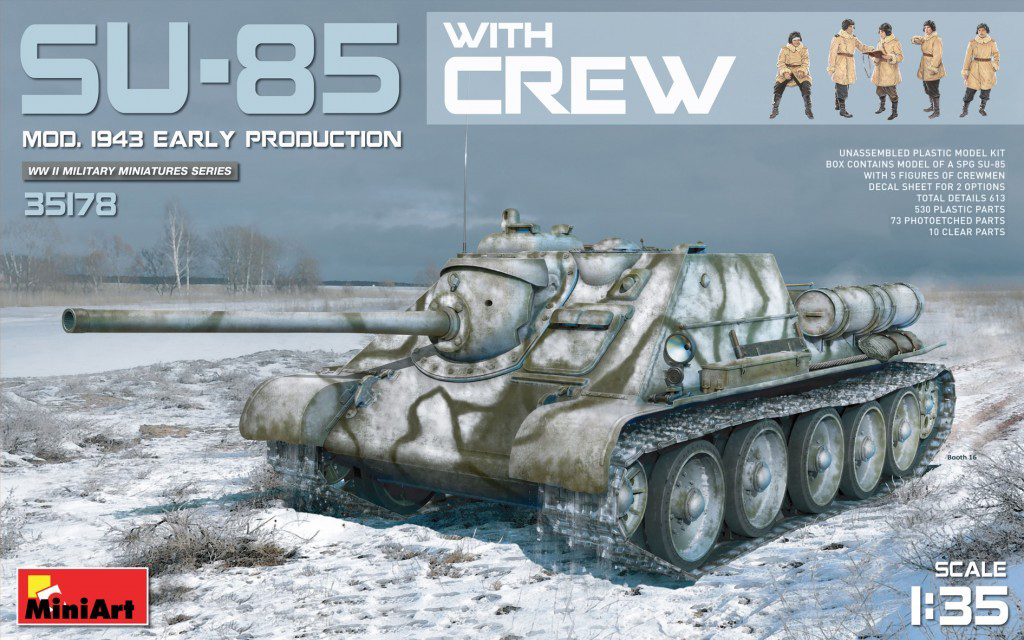 MiniArt SU-85 Mod. 1943 (Early Production) w/Crew (1/35)