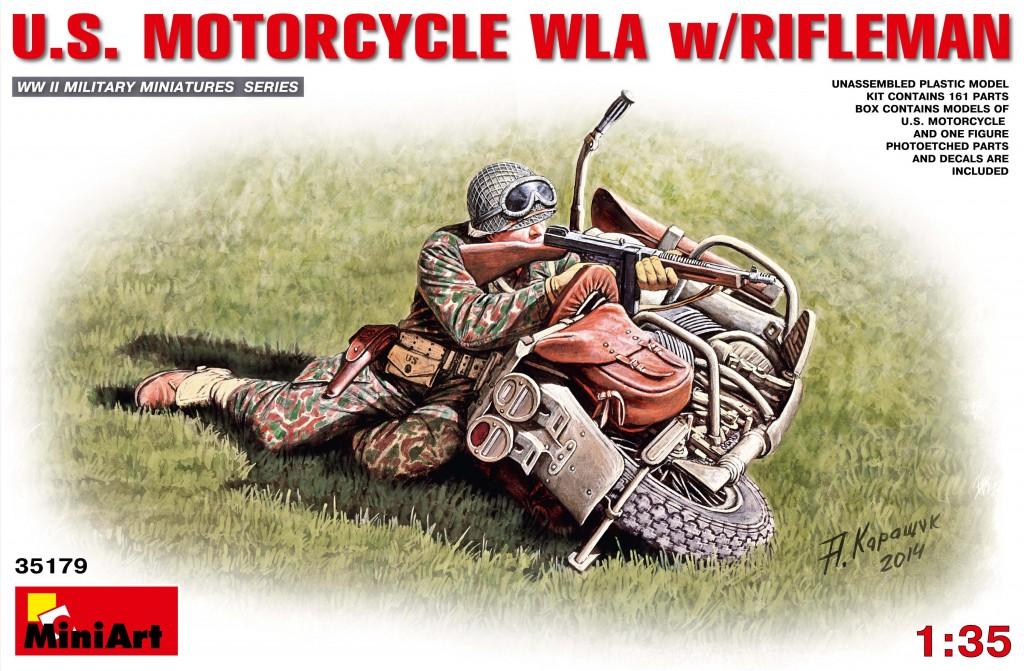 MiniArt U.S.Motorcycle WLA with Rifleman (1/35)