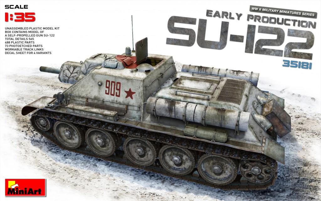 MiniArt 1/35 SU-122 (Early Production)