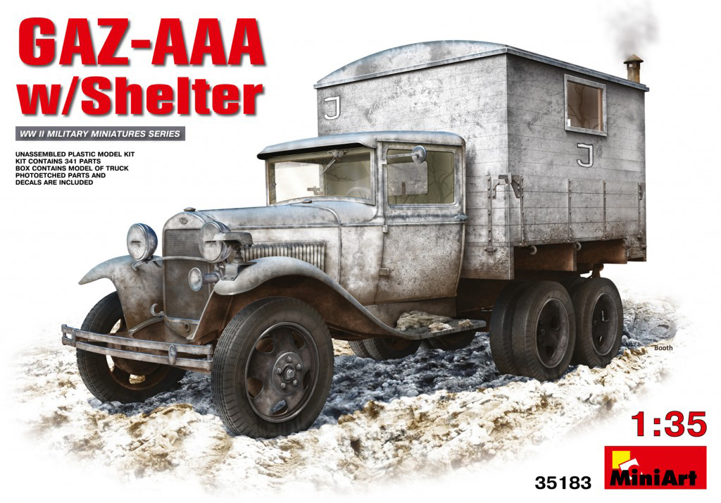 MiniArt GAZ-AAA with Shelter (1/35)